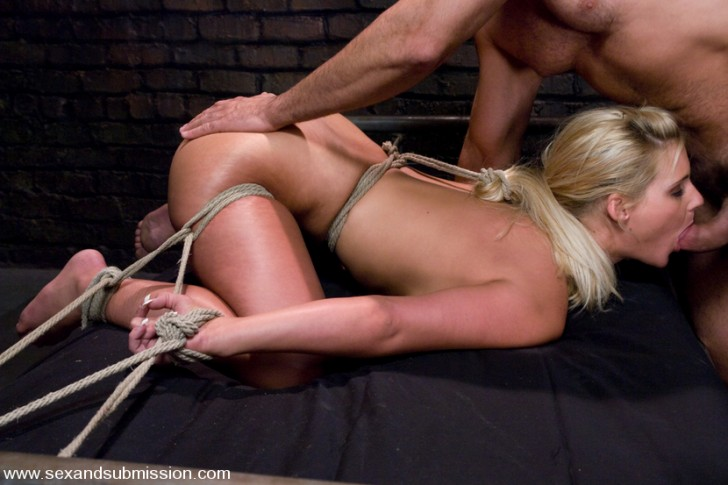 Hot Blonde Bondage Fucked 1